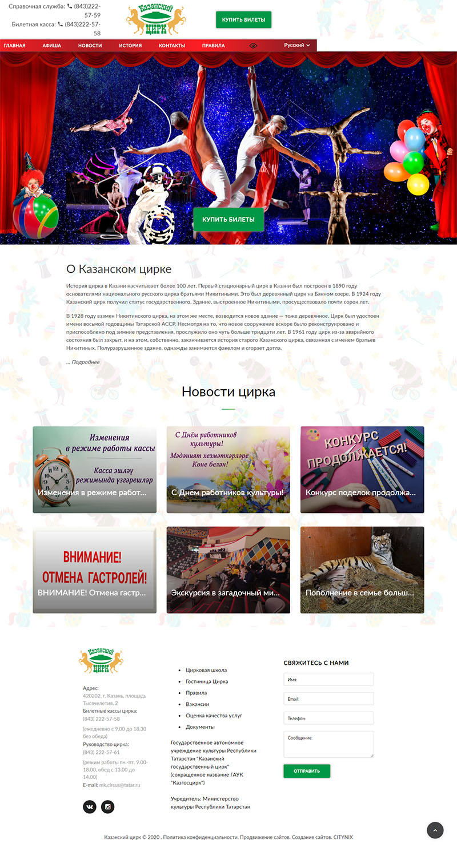 создание сайта для цирка