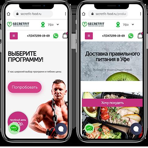 Создание сайта доставки диетического питания SECRETFIT-фото