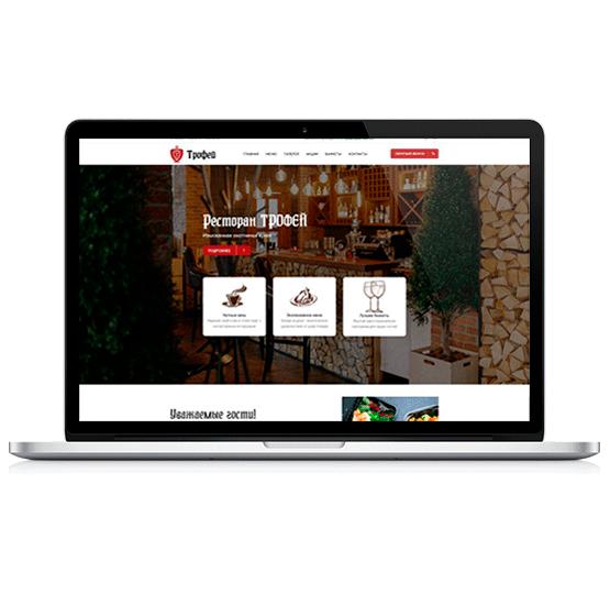 Создание сайта для ресторана охотничьей кухни-фото