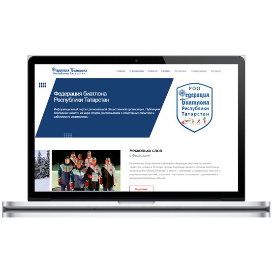 Создание сайта для Федерации Биатлона РТ-фото